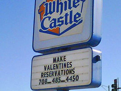 Would you like White Castle candles over your White Castle meal?