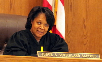 Judge Saffold, probably saying something racist.