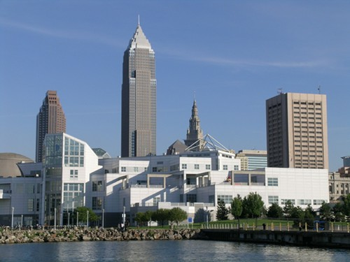 Say nice things about Cleveland? Um, the sky is really blue?
