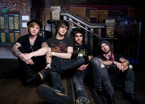 Boys Like Girls ... and awesome hair!