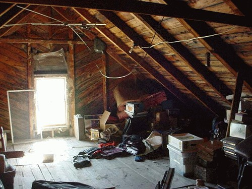 There is only so much fun you can have in an attic