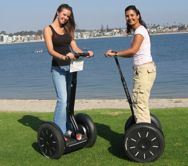 The $20 segway ride does not come with these two ladies. Sorry.
