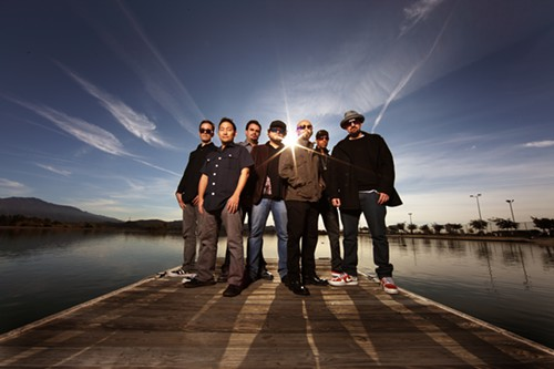 There are actually 17 other people in the band, but they couldnt fit on the dock