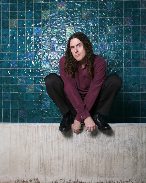 Al Yankovic, doing something weird