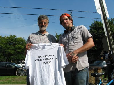 Dana Depew will support Cleveland art in other ways. Frank jackson will still wear this shirt.