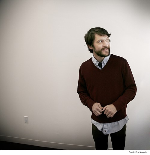 Tim Kasher spots a fluffy bunny down the hall