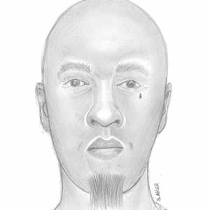 Sketch of the suspect.