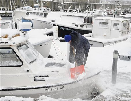 Dont forget to shovel the snow off your boat. Thats essential in Cleveland.