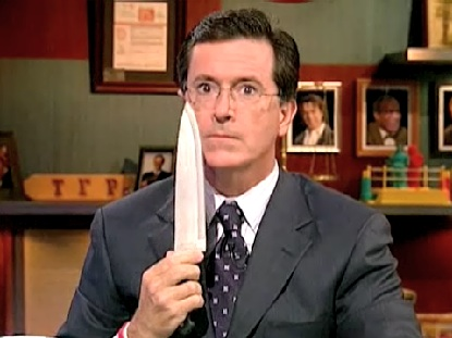 Stephen Colbert shows proper technique.