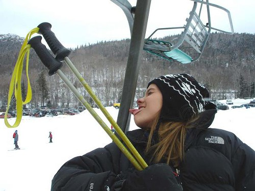 Thats probably not what we meant by stuck on a ski lift, but whatever.