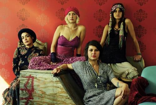 The lovely ladies of Warpaint, ready to assault your ears