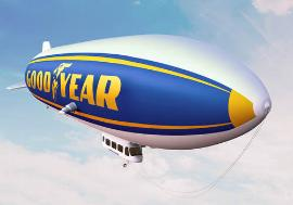 A rendering of a Goodyear Zeppelin. Alternate name: Zoso.